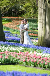 Wedding Photography Amongt the Tulips in Hollands Tulip Park, Keukenhof